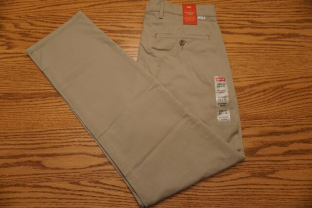 21d0f55df89 NWT MEN'S LEVI STRAIGHT CHINO PANTS Multiple Sizes Below Waist Khaki Stretch  $59