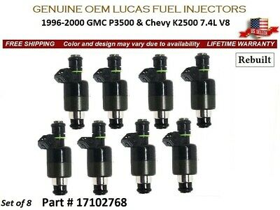 8x OEM Upgrade Fuel Injector For Chevy P30 EXPRESS 3500 K3500 SUBURBAN 1996-2000
