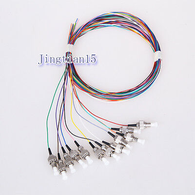 12 Core Stand Color FC Fiber Pigtails FC ODF Single Mode SM FC Loose Cable