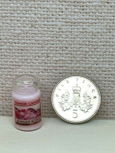 Dolls House Miniature 1:12th Scale accessory Yankee Candle Summer Scoop