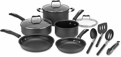 Cuisinart - 12 PC Cookware Set - Black