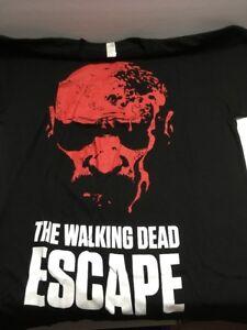 Walking-Dead-034-ESCAPE-2014-Tour-034-Size-M-Medium-T-Shirt