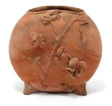 Chelsea Keramic Art Works Robertson & Sons redware pillow vase 1880 CKAW Dedham