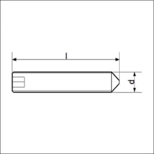40270816 ehem. DIN 914 10x Madenschraube Gewindestift M8x16 Spitze ISO 4027