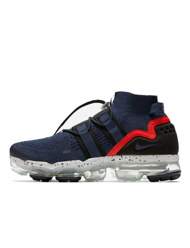 Nike Air Vapormax Utility Navy Habanero Red AH6834-406 w/Receipt