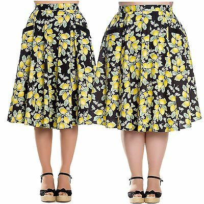 Hell Bunny Leandra 50's Vintage Swing Pin Up Skirt PLUS SIZE XS - 4XL