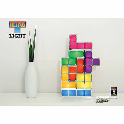 Tetris Light Retro Multi Coloured Designer Lighting Gift