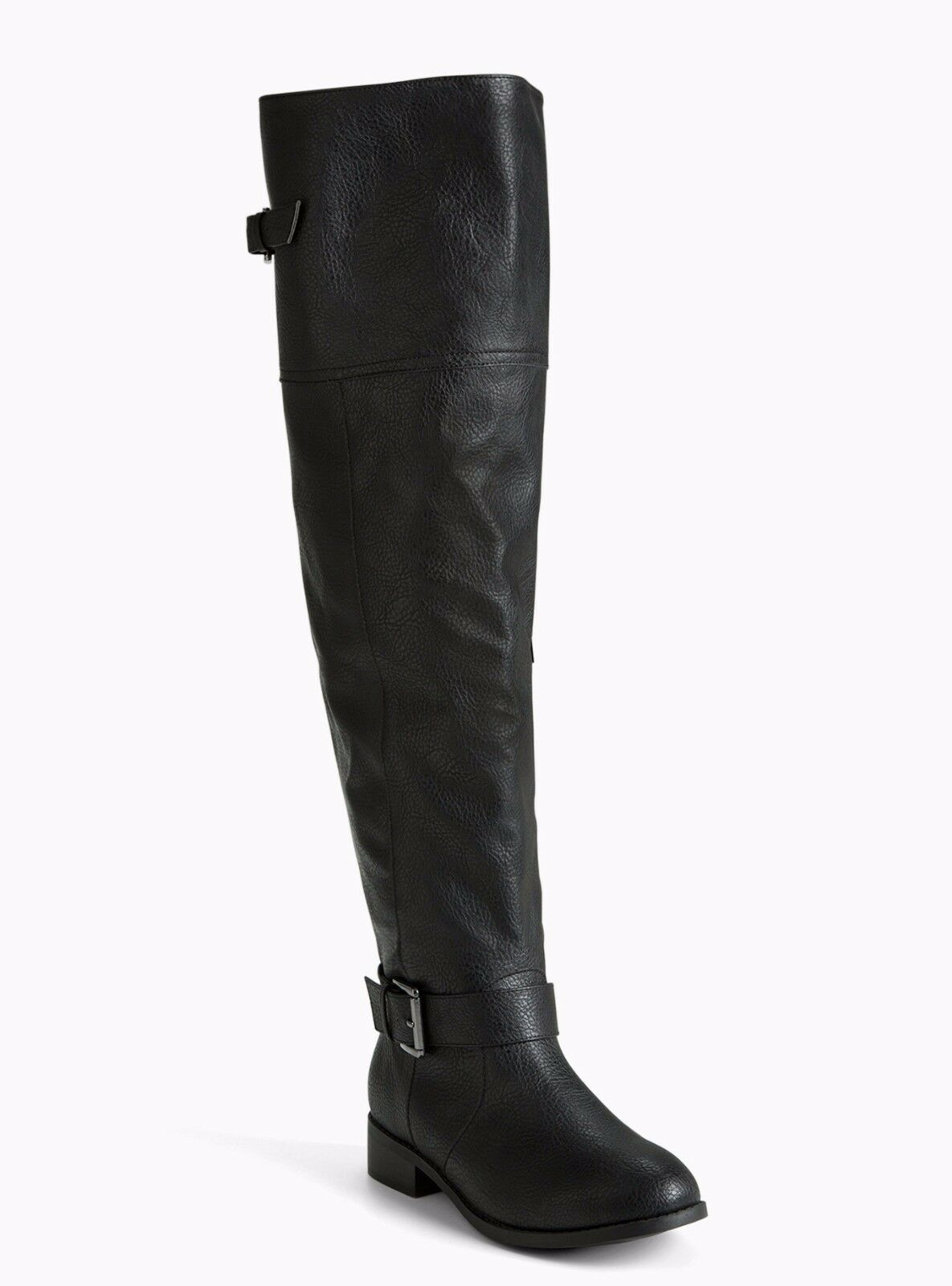 Torrid Faux Leather Over The Knee Boots Wide Width & Wide Calf Black 7