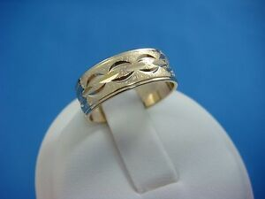 ! NICE 14K YELLOW GOLD VINTAGE WEDDING LADIES BAND 4 GRAMS, 6.25 MM WIDE SIZE 6