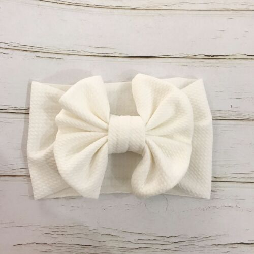 Toddler Girls Baby Big Bow Hairband Headband Stretch Turban Knot Head Wrap