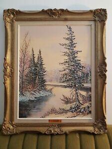 Cole-Bowman-Canadian-Oil-Painting-Muskoka-Vintage-Landscape-Original-signed-rare