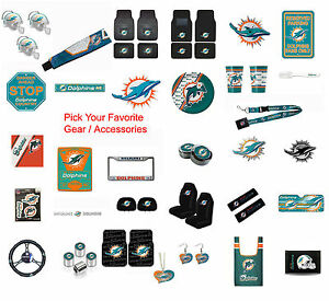 New NFL Miami Dolphins Pick Your Gear / Car Truck Accessories ...