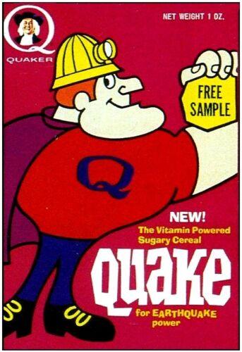1960s QUAKE cereal box replica fridge magnet NEW!