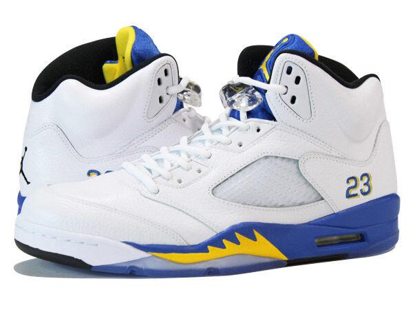 Nike Nike Nike Air Jordan 5 RETRO LS Bianco Blu Giallo UNI 10612a