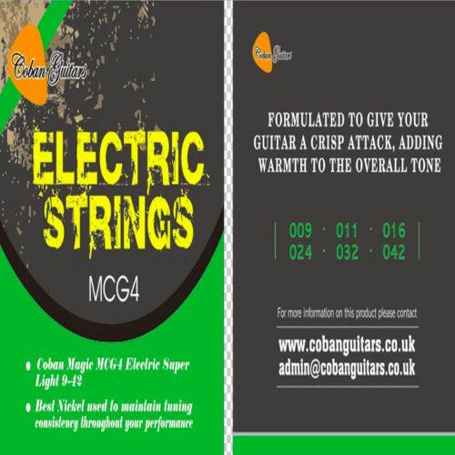Coban Guitars MCG4 Electric Super Light 9-42 Best Nickel Strings Total 6 Strings