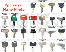 2pc Heavy Equipment Construction Keys For Hitachi Jcb Caterpillar Ih Case Bobcat