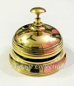 Marvelous Details About Brass Round Hotel Reception Front Desk Bell Vintage Sale Service Counter Bell Home Interior And Landscaping Oversignezvosmurscom