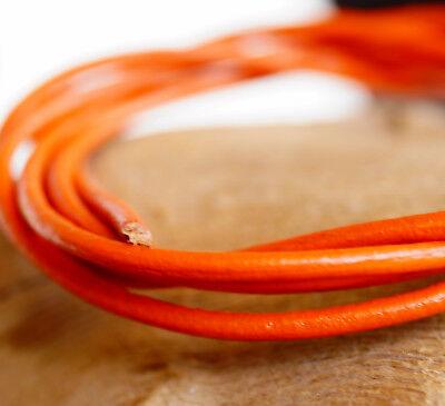 1 Meter Lederband 1,5mm Dunkle Orange