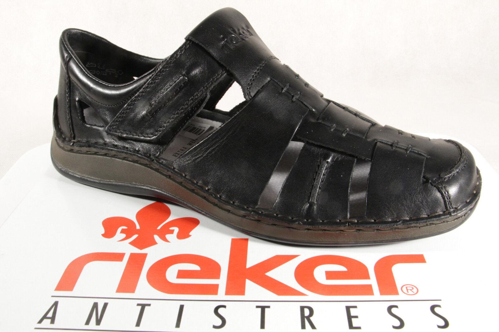Rieker Herren Slipper Echtleder Sneakers Halbschuhe 05275 schwarz Echtleder Slipper NEU c6feaf