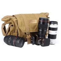 Canvas SLR DSLR digital camera gadget organizer bag For Nikon Sony Canon Pentax