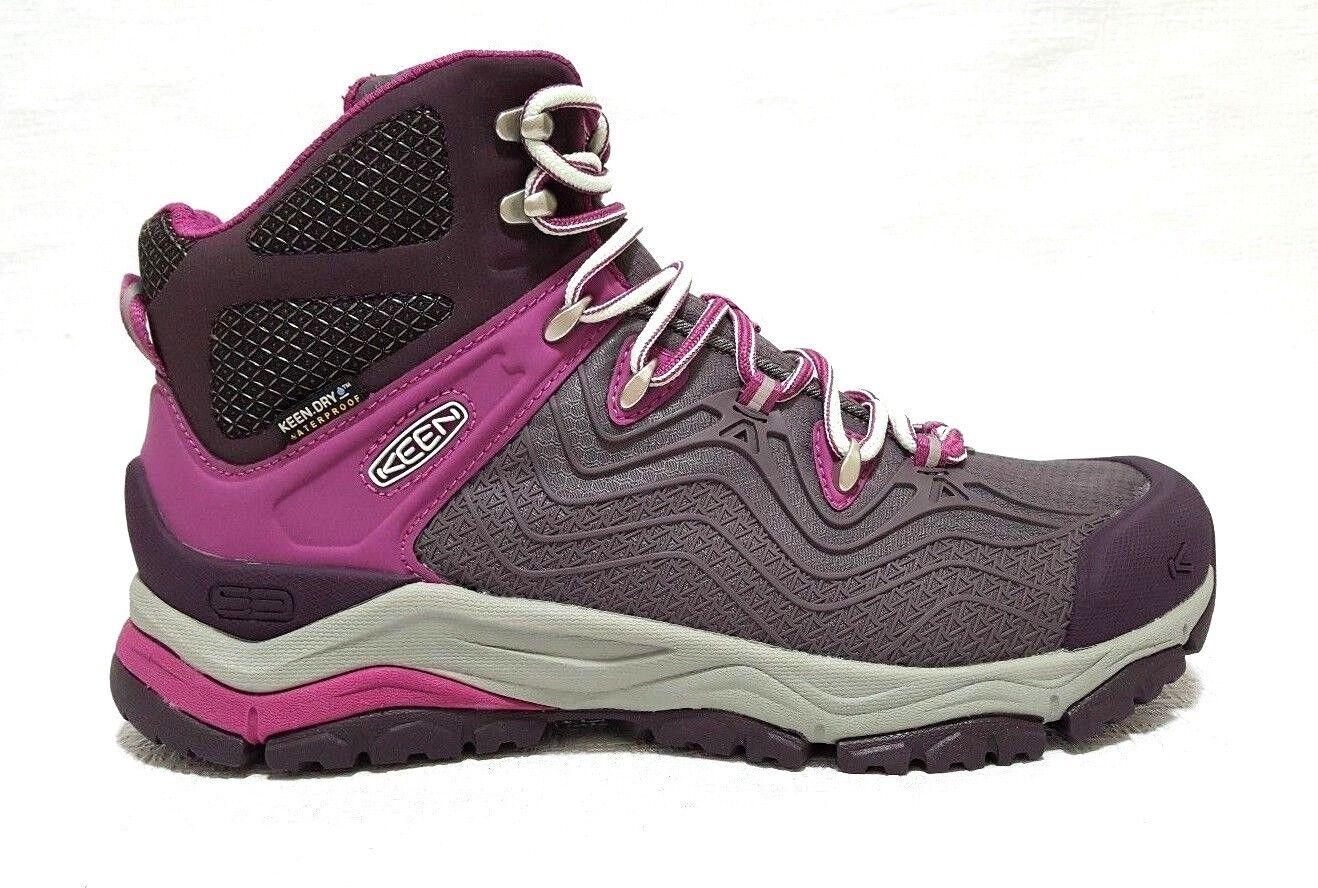 KEEN Women's Aphlex Mid Waterproof Boot Plum/Shark US 9 New