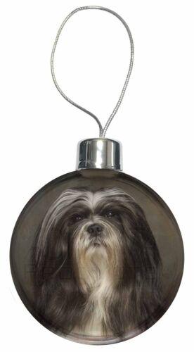 Lhasa Apso Dog Christmas Tree Bauble Decoration Gift AD-LAP1CB