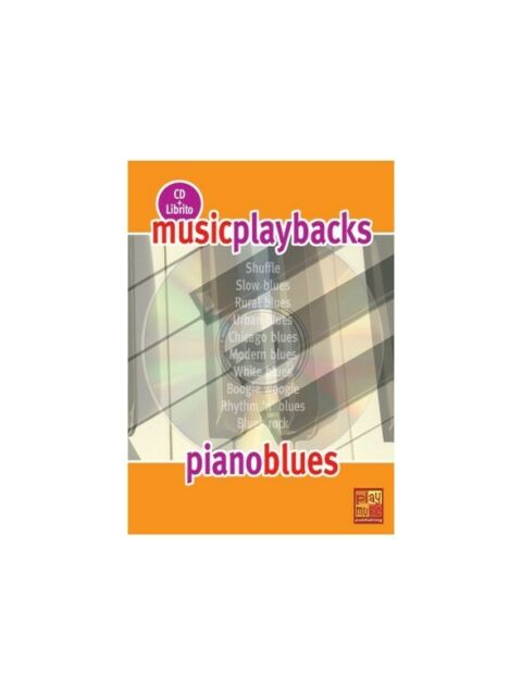 Music Playbacks CD Piano Blues Learn to Play Present MUSIC BOOKLET & CD Piano