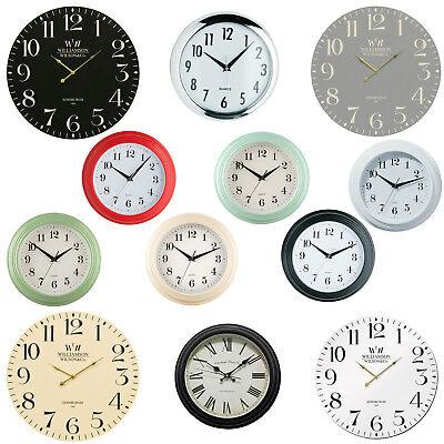 Assorted Round Vintage Wall Clocks Easy Read Time Piece Analogue Quartz  Kitchen   eBay
