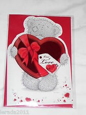 VALENTINE CARD GENERAL OPEN ME TO YOU TATTY TEDDY  3D  LOVE PARTNER BOYFRIEND