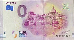 BILLET-0-EURO-VATICANO-ITALIE-2019-NUMERO-1000