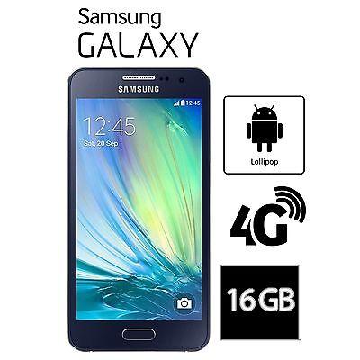 """Samsung Galaxy A3 2016 Black 4.7"""" 16GB 4G Unlocked & SIM Free SM-A310FZKABTU"""
