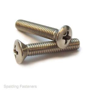 BA A2 Stainless Steel Countersunk Slotted Head Machine Screws 2BA /& 6BA