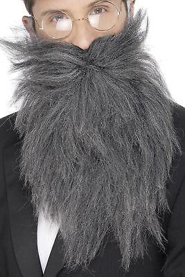Men's Lungo Grigio Barba & Tash Old English Detective Costume Cervo Divertente 30,40's-mostra Il Titolo Originale Acquista Sempre Bene