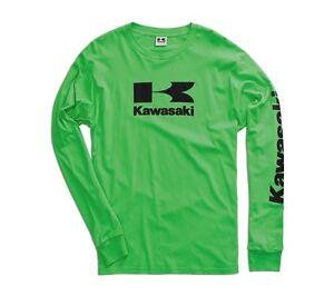 Kawasaki-Stacked-Logo-L-S-T-Shirt-in-Kawasaki-Green-Size-XXX-Large-Brand-New