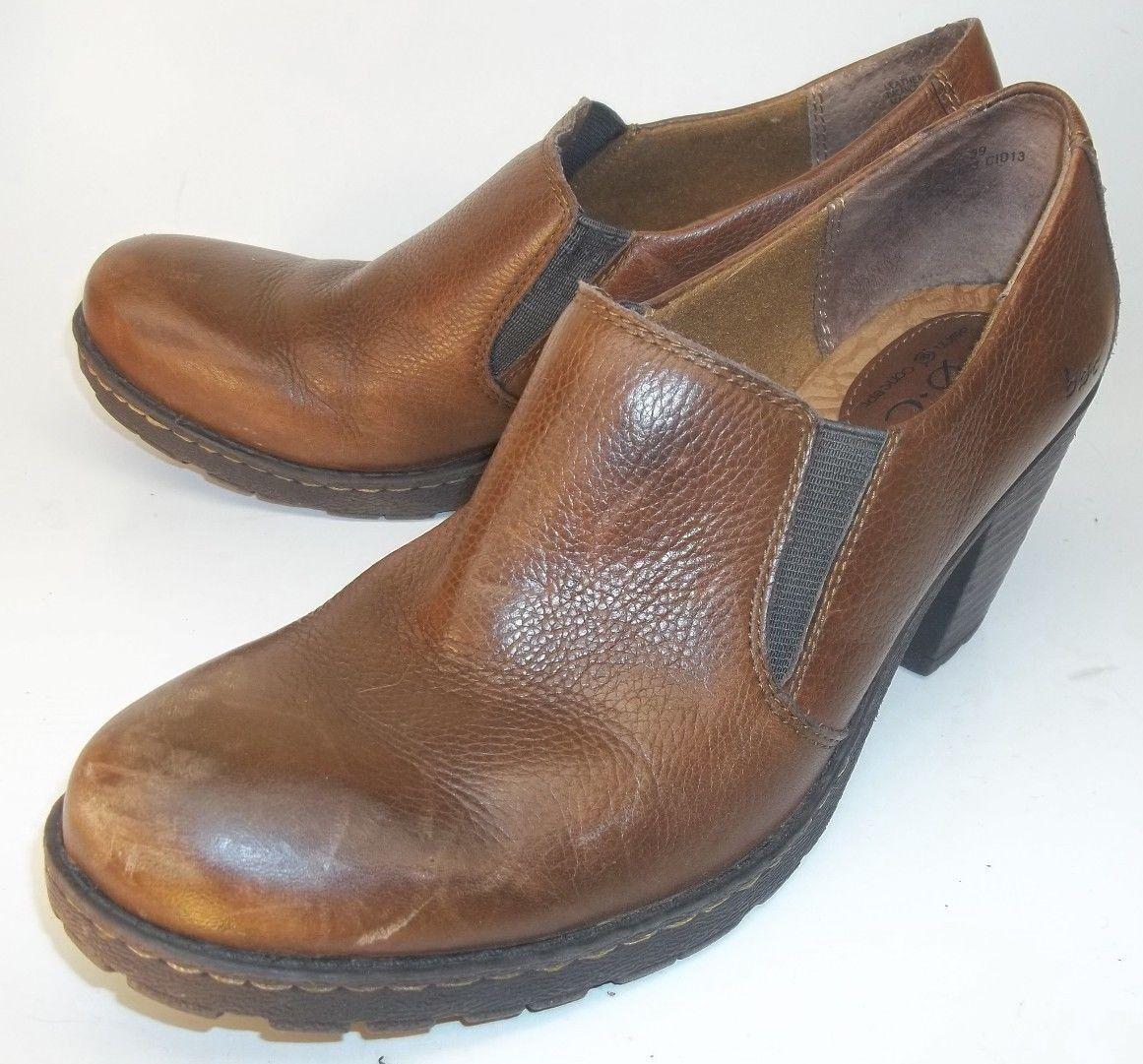 B.O.C Born Concept Wos Loafer Heels US 8 M EU 39 marron Leather 781