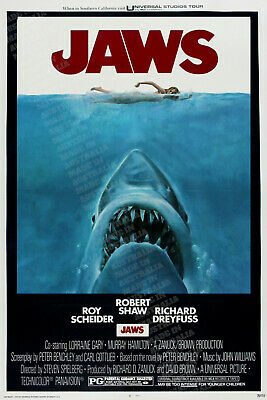 JAWS 1 1975 MOVIE ART POSTER PRINT PREMIUM