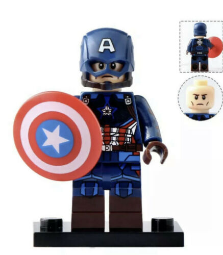 Marvel Avengers Captain America End Game Minifigure Fits Lego US SELLER
