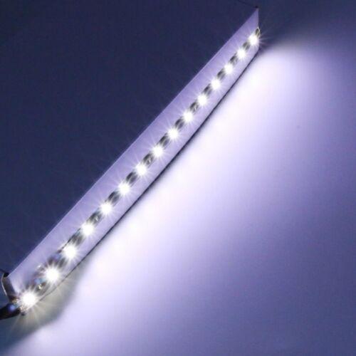 10X30CM 15SMD LED White Light Flexible Strip Car Home Soft Light Lamp IP65 12VDC