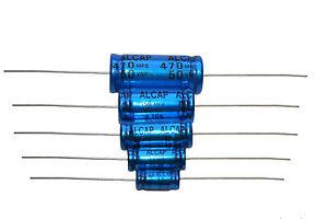 BIPOLAR condensateur ALCAP 50v-150v 1uf-470uf vendu par paire haut-parleur Crossover Caps