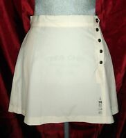 Team Ixspa Logo Women's Pleated Tennis Golf Skirt Size 8 Ivory