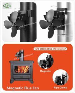 Log-Bruleur-Multi-Fuel-Stove-Flue-pipe-monte-Ventilateur-Neuf-Pour-2019