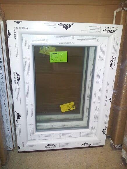 Kunststofffenster (Kunststoff – Fenster) 80x120 cm bxh, (800x1200 mm bxh), weiß