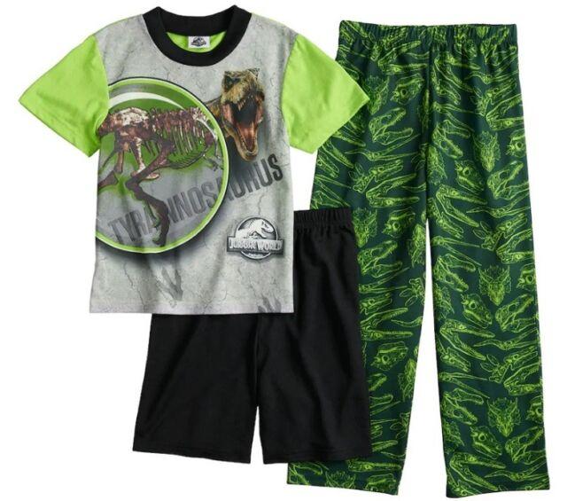 Boys Kids Jurassic World Shorts Pyjamas Nightwear PJs 100/% Cotton T-Rex