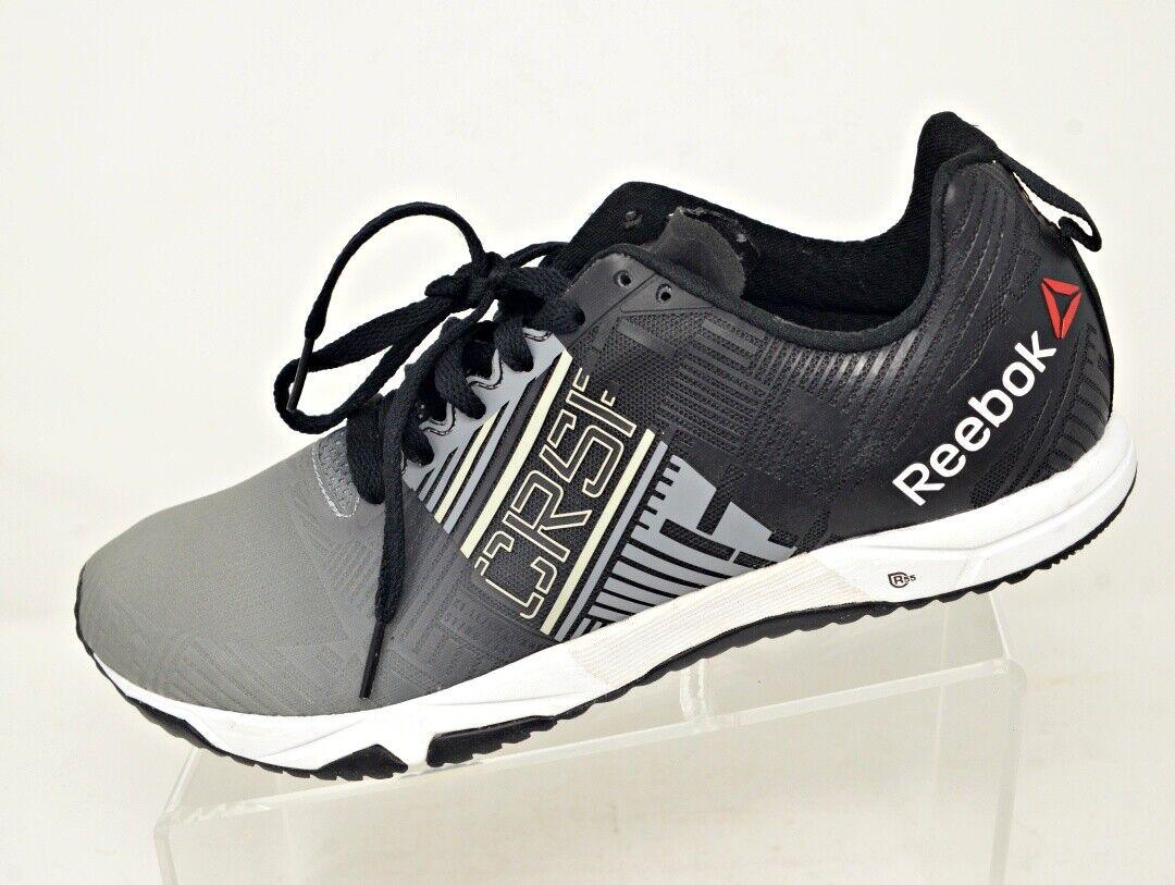 Nuevo Reebok R para hombre 11 CrossFit Sprint 2.0 Entrenamiento Calzado Negro gris