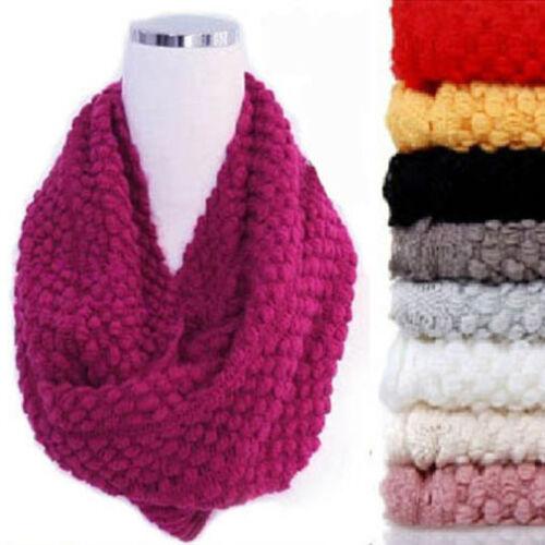 Infinity écharpe pour femme hiver chaud 2 Cercle Cable Knit Cowl Neck Long écharpe Châle