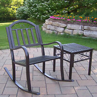 Outdoor Metal Rocking Chair Seat Porch Deck Patio Glider Rocker Assorted Styles