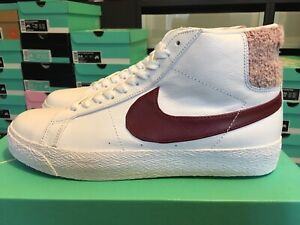 Details about NIKE SB ZOOM BLAZER MID PRM Size 9.5 WHITE TEAM RED