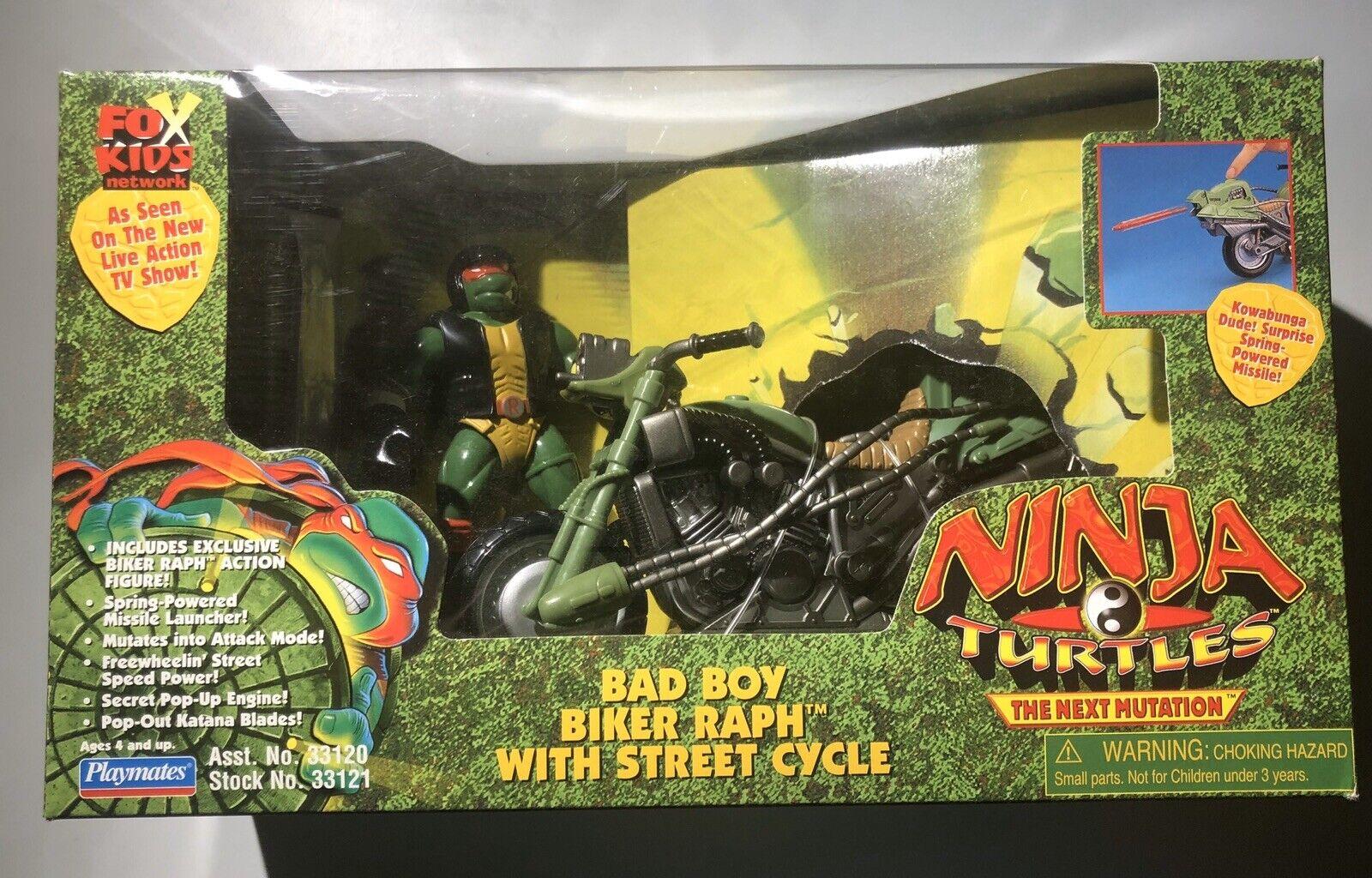 TMNT Next Mutation Bad Boy biciclettar Raph Street Cycle 1997 nuovo Sealed