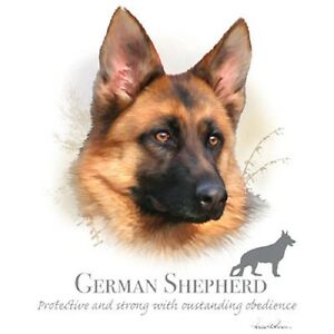 Details about GERMAN SHEPHERD Dog with Phrase on ONE 18