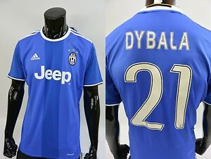 newest a1b8d 757de Details about Bianconeri Juve 2016-2017 adidas Juventus Away Shirt DYBALA  21 SIZE L (adults)